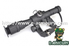 (PSO-1) 4×24 Rifle Scope Comes With SVD Mount+Red Illuminated